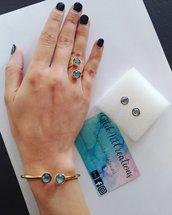 Set bracciale anello e orecchini