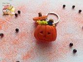 "Halloween 🎃 Portachiavi zucca ""Dolcetto o scherzetto"""