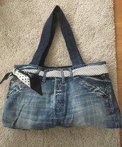 Borsa jeans riciclati