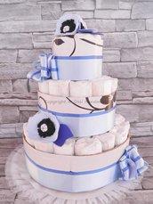 TORTA DI PANNOLINI bambino / Pannolini per nascita / Idee regalo neonati