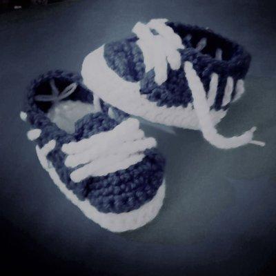 Scarpine scarpe neonato uncinetto Adidas