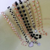 Catenine rosario con ciondolo