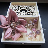Collezione Natura - Tris regalo accessori + scatolina in legno traforata
