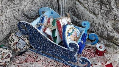Set di addobbi natalizi in legno