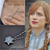 Ciondolo Elsa Frozen once upon a time Anna collana fiocco di neve ghiaccio regalo