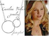 Collana Caroline Forbes the vampire diaries cerchio infinito amore love argento