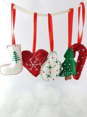 SET decorazione Natale - realizzato a mano
