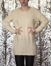 maglione in lana merinos fatto a mano unico- UnicOrn