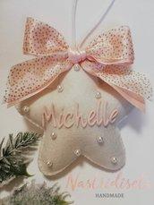 Stella in pannolenci decorazione natalizia