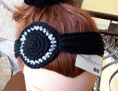 Fascia di lana per capelli, all'uncinetto
