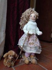 Sandy a passeggio con il suo amico Pippo