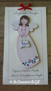 Angelo della Famiglia,  famiglia, buon auspicio, angelo in legno,