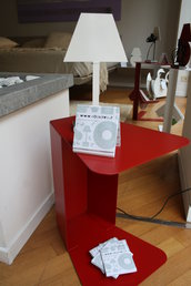 SOOZY - Comodino con porta riviste, tavolino (Caoscreo)