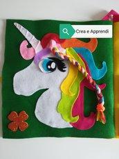 QUIET BOOK PER SOFIA 5.6 ANNI–9 PAGINE *+OMAGGIO*SENZA SPESE DI SPEDIZIONE