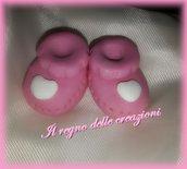Stampo scarpette scarpe baby  in 3d in gomma siliconica da colata per bomboniere