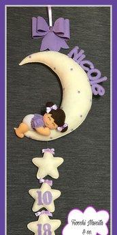 Fiocco nascita bambina sulla luna