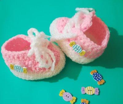Scarpine scarpe neonato uncinetto