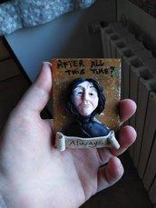 Calamita Severus Piton Harry Potter. Spedizione Gratuita in Italia
