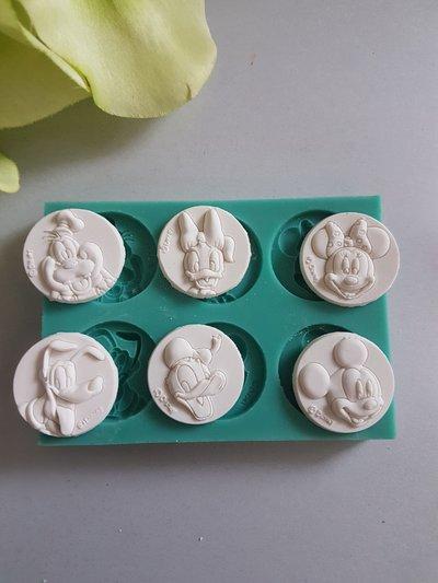Stampo multiplo minnie paperino topolino