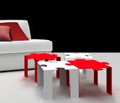 "PUZZLE TABLE ""out""- Bellissimo tavolino modulare  (Caoscreo)"