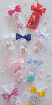 Sacchettino 3 confetti - confetti nascita - confetti battesimo - confetti matrimonio - confetti comunione -