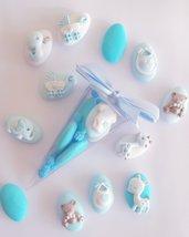 Cono 5 confetti - confettata - confettata battesimo - confettata nascita - confetti decorati - dragee confetti - isabella salvadori - nascita - battesimo - compleanno - bomboniere economiche