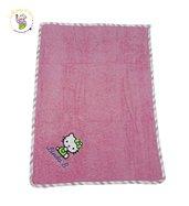 Asciugamano in spugna di cotone rosa, con ricamo Hello Kitty personalizzato con nome - 50x70cm
