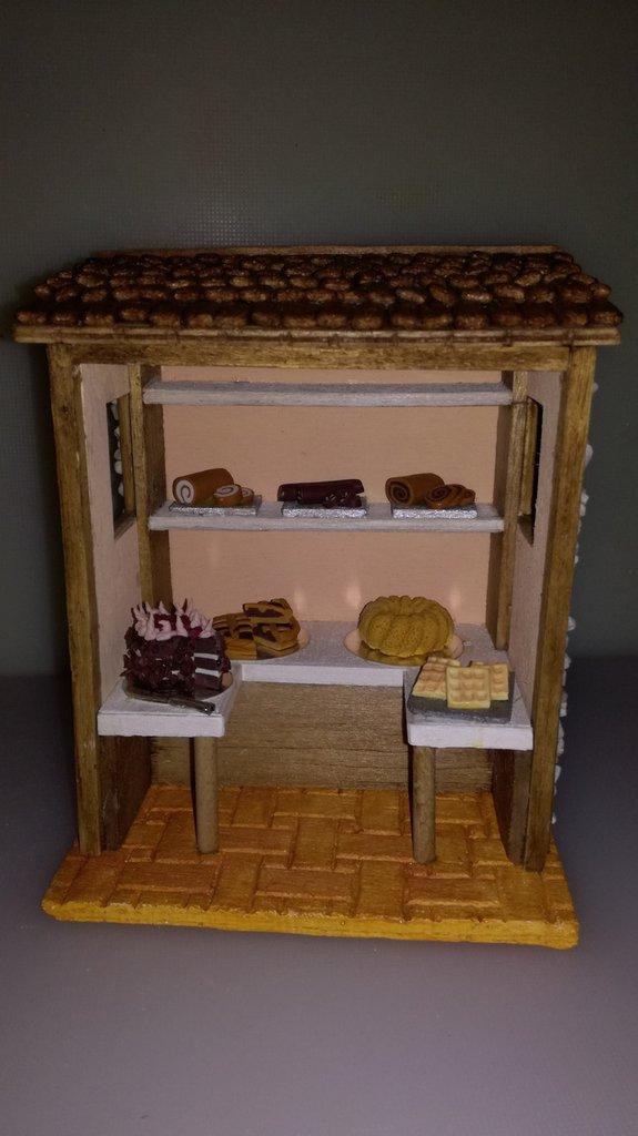Pasticceria, bottega per presepe
