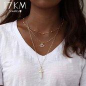 Collana pietra di luna occhio protezione amuleto portafortuna regalo