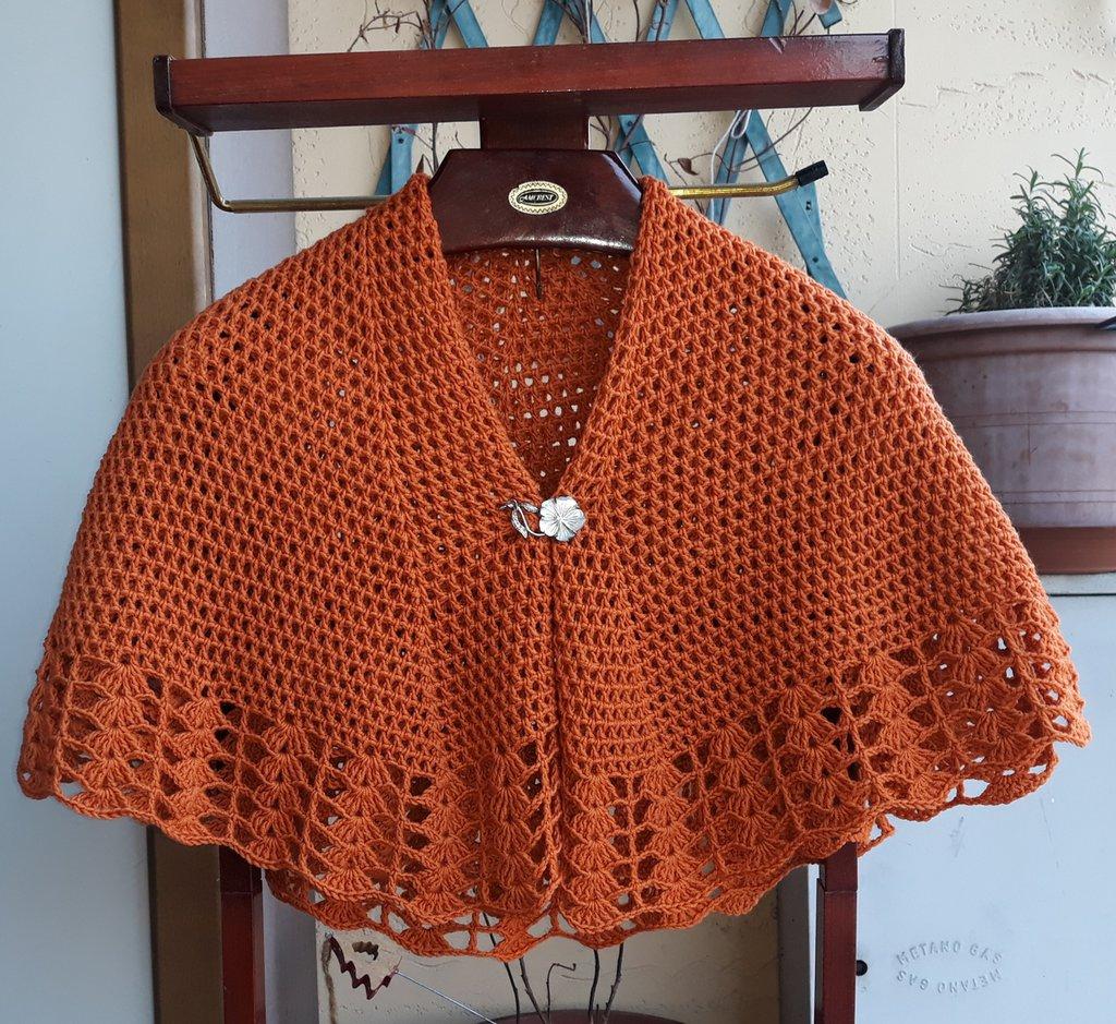 Scialle Mantellina Della Nonna Donna Abbigliamento Di I Lav