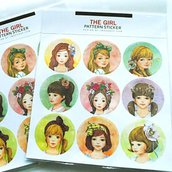 """Stickers """"The girls"""""""