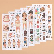"""Stickers """"paper doll mate"""""""