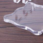 Piastra acrilica per timbri trasparenti 10 X 10 cm