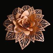 Fustelle in metallo fiore