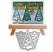 Fustelle in metallo alberi di Natale