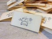 Bigliettini matrimonio confetti bomboniera sposini cartoncino avorio scritta bordeaux