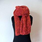 Maxi Sciarpa di lana- sciarpa coprispalle - Sciarpa a ferri - sciarpa infinity - sciarpa fatta a mano -