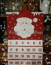Calendario dell'avvento in feltro