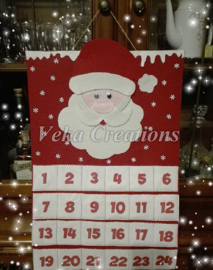 Calendario Dellavvento In Feltro.Calendario Dell Avvento In Feltro