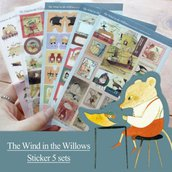 """Stickers """"The Wind in the Willows"""""""