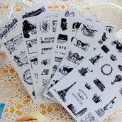 "Stickers ""Retro stamp postmark"""