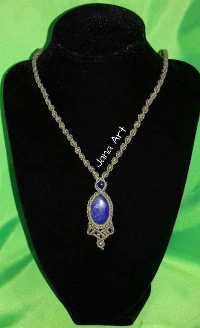 Collana per la Cristalloterapia: Lapislazzuli