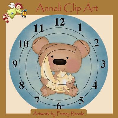 Orologio Baby per Cameretta - Stampalo quante volte vuoi per Decoupage - Immagini