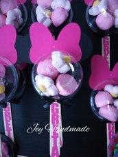 Marshmallow spiedino Minnie nome caramella caramelle decorazione festa compleanno topolina