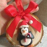 Pinguino con candy canes