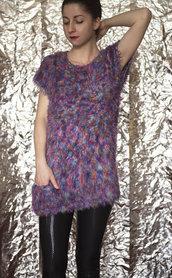 maglione in cotone e seta fatto a mano-UnicOrn