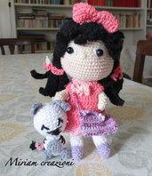 Bambolina Matilde con gattino Teo