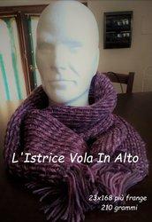 Sciarpa in lana sofficissima, lavorata a mano a telaietto (knitting loom)