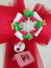 coccarda fiocco natalizio