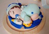 Regalo nascita o cake topper bebè